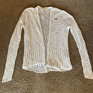 White Knitted Hollister Cardigan